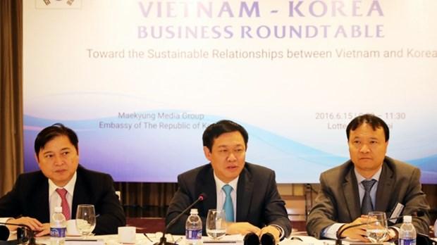 Le vice-PM Vuong Dinh Hue plaide pour une cooperation d'affaires Vietnam-R. de Coree hinh anh 1