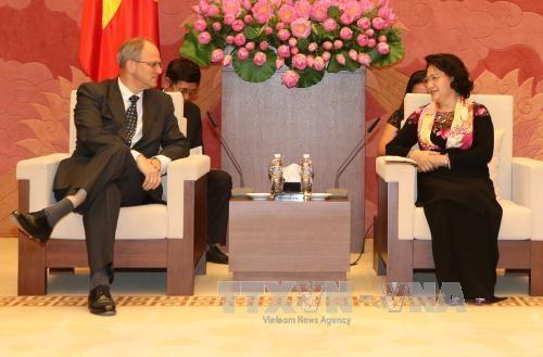 Nguyen Thi Kim Ngan recoit des ambassadeurs europeens hinh anh 2
