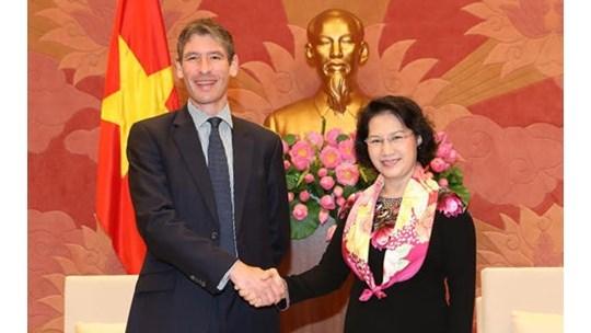Nguyen Thi Kim Ngan recoit des ambassadeurs europeens hinh anh 3