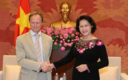 Nguyen Thi Kim Ngan recoit des ambassadeurs europeens hinh anh 1