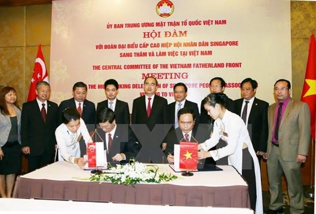 Renforcer les liens entre volontaires vietnamiens et singapouriens hinh anh 1