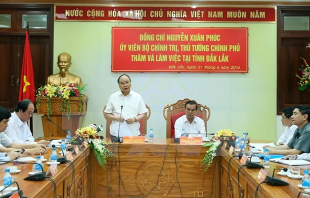 Le Premier ministre travaille avec les autorites de Dak Lak hinh anh 1