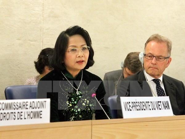 Le Conseil des droits de l'homme de l'ONU adopte une resolution signee par le Vietnam hinh anh 1