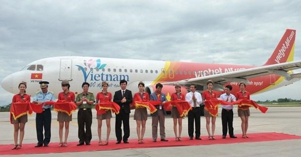 Vietjet Air inaugure la ligne Nha Trang - Thanh Hoa hinh anh 1