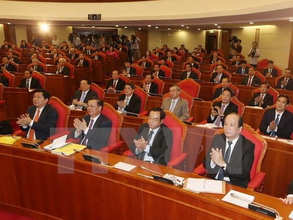 La troisieme journee de travail du 3e plenum du CC du PCV hinh anh 1