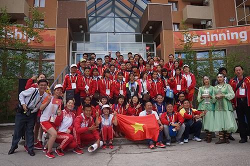 Jeux sportifs internationaux des enfants d'Asie : le Vietnam gagne 3 medailles d'or hinh anh 1
