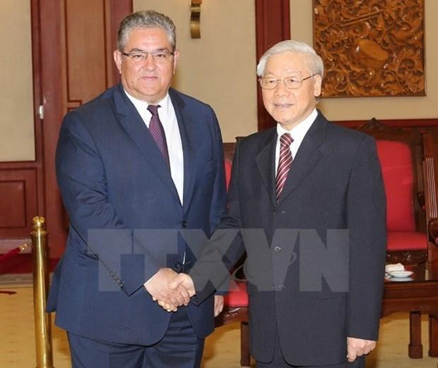 Le Parti communiste du Vietnam et le Parti communiste de Grece resserrent leurs liens hinh anh 1