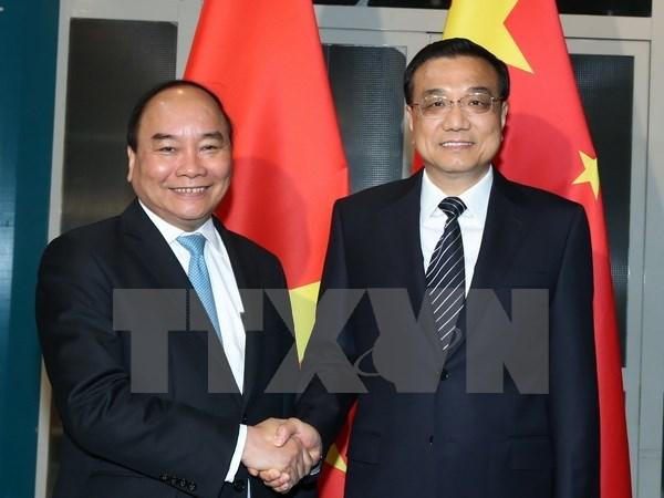 Le PM Nguyen Xuan Phuc rencontre ses homologues chinois, laotien et le president bulgare hinh anh 1