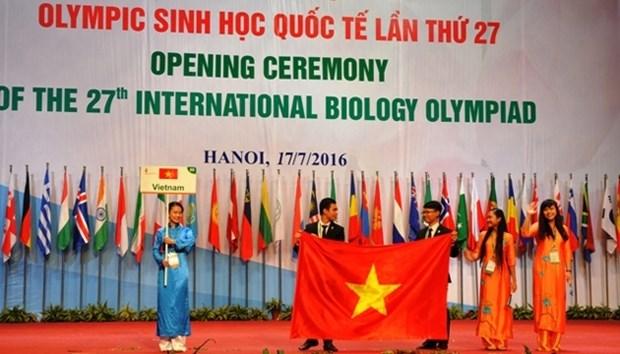 Ouverture des 27es Olympiades internationales de Biologie a Hanoi hinh anh 1