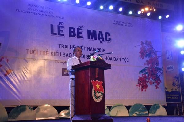 Clap de fin pour le camp d'ete 2016 des jeunes Viet Kieu hinh anh 1
