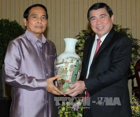 Une delegation de l'Inspection du gouvernement laotien en visite a Ho Chi Minh-Ville hinh anh 1
