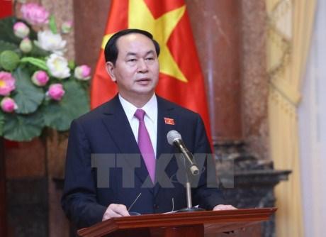 Messages de felicitations aux hauts dirigeants vietnamiens hinh anh 1
