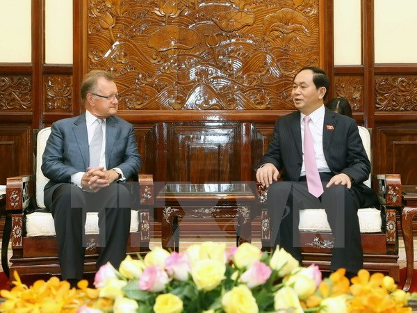 Le president Tran Dai Quang recoit un professeur de marketing de l'Universite de Harvard hinh anh 1