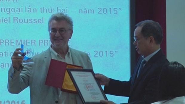 Le Prix national vietnamien de l'information pour l'etranger decerne a un realisateur francais hinh anh 1