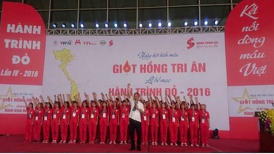 Itineraire rouge 2016 : pres de 21.000 d'unites de sang collectees hinh anh 1
