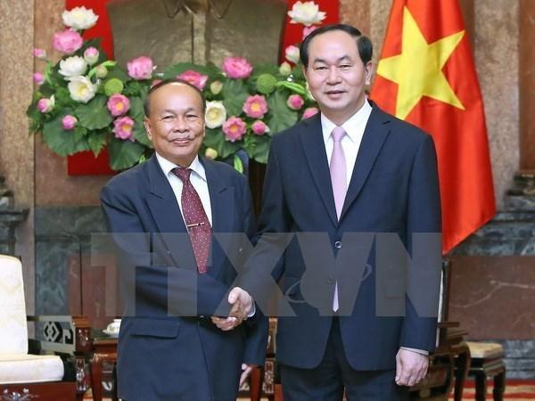 Le chef de l'Etat recoit le ministre d'Etat et ministre cambodgien des Cultes et Religions hinh anh 1