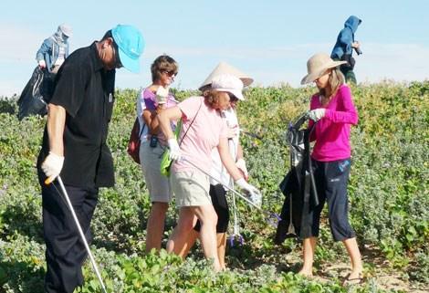 Plus de 400 etrangers participent au nettoyage de la plage de Tuy Hoa hinh anh 1