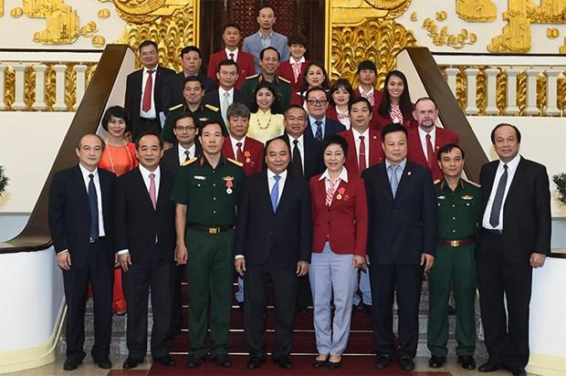 Le PM felicite les sportifs vietnamiens participant aux JO de Rio de Janeiro hinh anh 1
