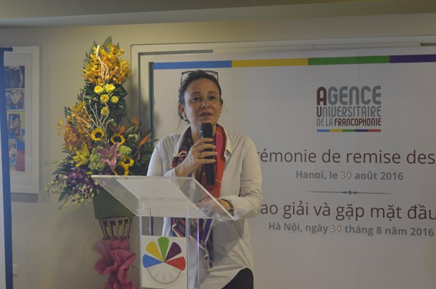 L'AUF recompense de jeunes talents francophones a Hanoi hinh anh 1