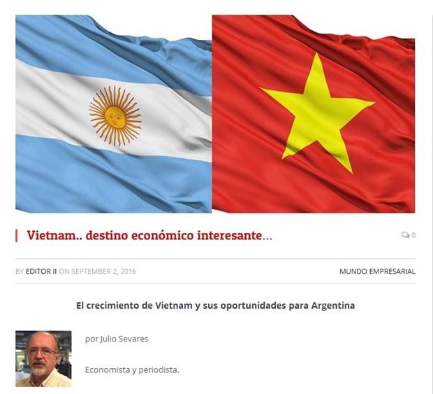 La presse argentine salue les realisations economiques du Vietnam hinh anh 1