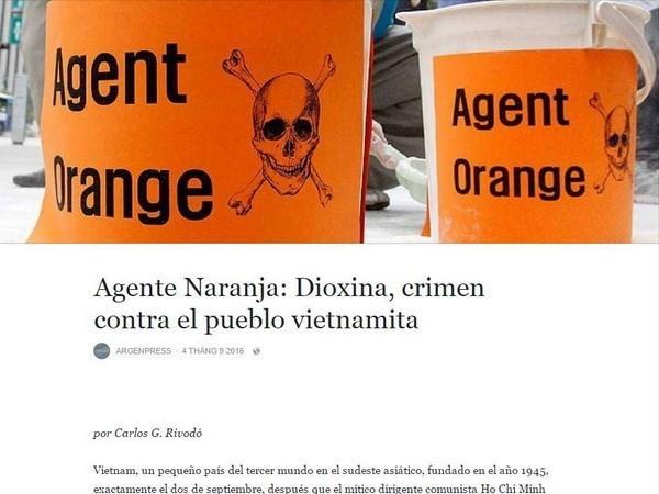 Argenpress: Dioxine, un crime contre le peuple vietnamien hinh anh 1