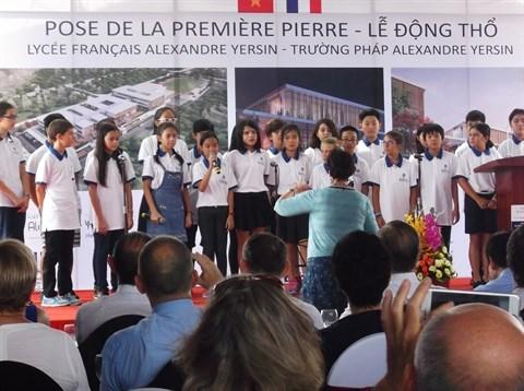 Pose de la premiere pierre du nouveau Lycee francais de Hanoi hinh anh 2