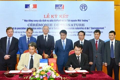 La France soutient Hanoi pour ameliorer son reseau de surveillance de la qualite de l'air hinh anh 1