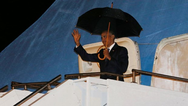 Le president americain arrive au Laos pour les Sommets de l'ASEAN hinh anh 1