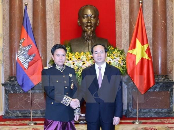 Tran Dai Quang recoit de nouveaux ambassadeurs hinh anh 4