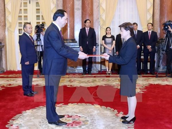 Tran Dai Quang recoit de nouveaux ambassadeurs hinh anh 5