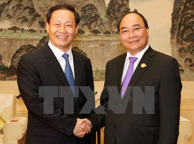 Le Premier ministre Nguyen Xuan Phuc plaide pour la cooperation avec Guangxi hinh anh 1