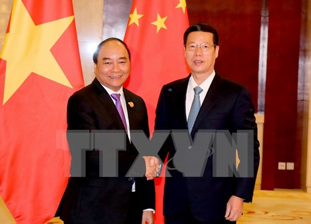 Nguyen Xuan Phuc recoit le vice-Premier ministre chinois Zhang Gaoli hinh anh 1