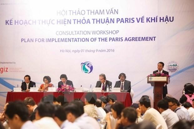 Le Vietnam pare pour la mise en œuvre des engagements de l'accord de la COP 21 a Paris hinh anh 1