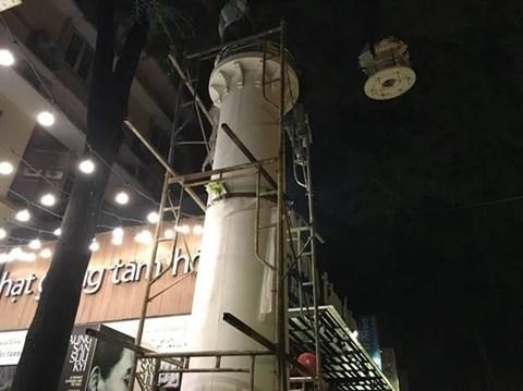 Installation d'un phare dans la rue des livres de Ho Chi Minh-Ville hinh anh 1