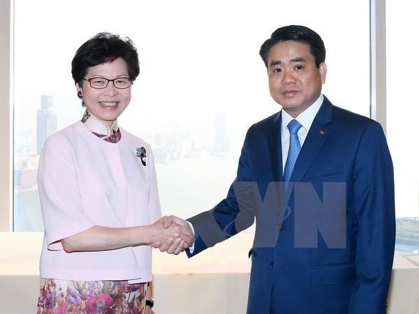 Hanoi et Hong Kong (Chine) promeuvent les potentiels de cooperation hinh anh 1