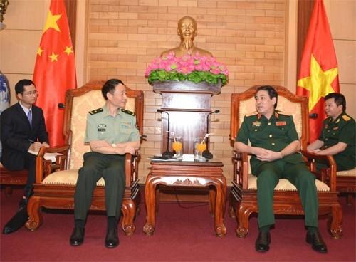 Une delegation de la Commission militaire centrale de Chine en visite au Vietnam hinh anh 1