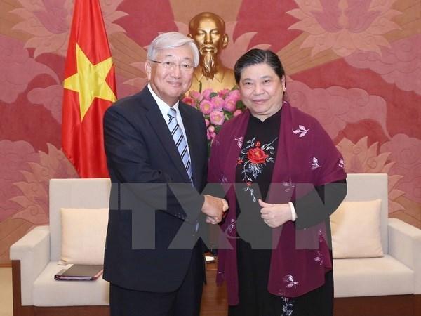 La vice-presidente de l'AN souhaite des liens plus etroits avec l'OMS hinh anh 1