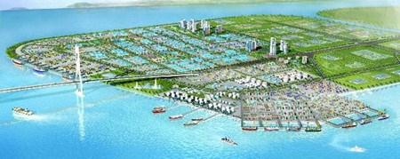 Pres de 7.000 milliards de dongs pour le projet de complexe de port et de ZI a Quang Ninh hinh anh 1