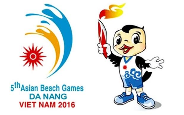 Ceremonie de lever du drapeau des 5es Jeux asiatiques de plage hinh anh 1