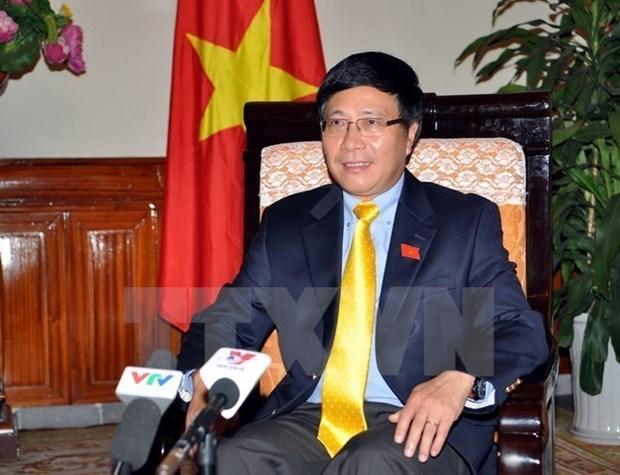 Activites du vice-Premier ministre et ministre des AE Pham Binh Minh a New York hinh anh 1