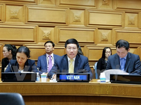 La valse des entretiens du vice-PM Pham Binh Minh a New York hinh anh 2