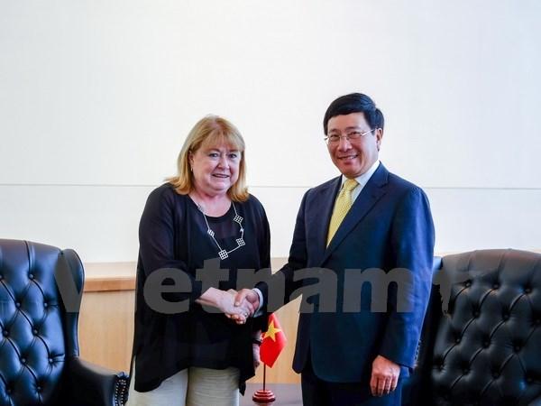 La valse des entretiens du vice-PM Pham Binh Minh a New York hinh anh 1