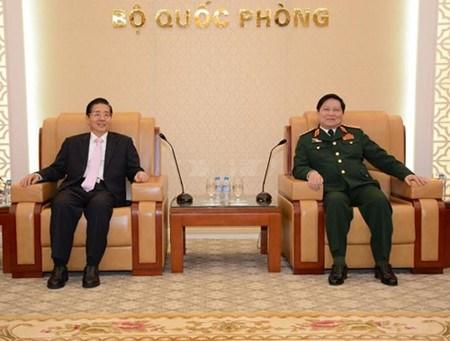 Le ministre vietnamien de la Defense recoit le ministre chinois de la Securite publique hinh anh 1