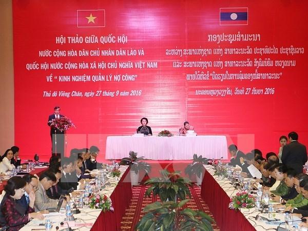Vietnam et Laos partagent des experiences dans la gestion des dettes publiques hinh anh 1