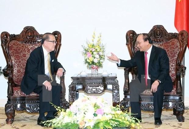 Le Premier ministre vietnamien recoit l'ancien president du Senat malaisien hinh anh 1