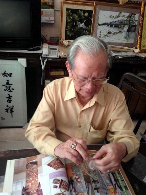 Le Van Kinh, le symbole de la broderie vietnamienne hinh anh 1