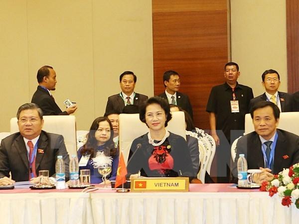 La presidente de l'AN vietnamienne a la seance du Comite executif de l'AIPA au Myanmar hinh anh 1