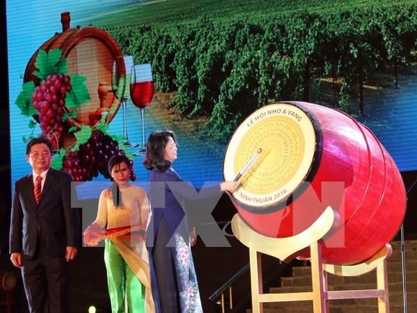 Ouverture de la Fete de la Vigne et du Vin - Ninh Thuan 2016 hinh anh 1