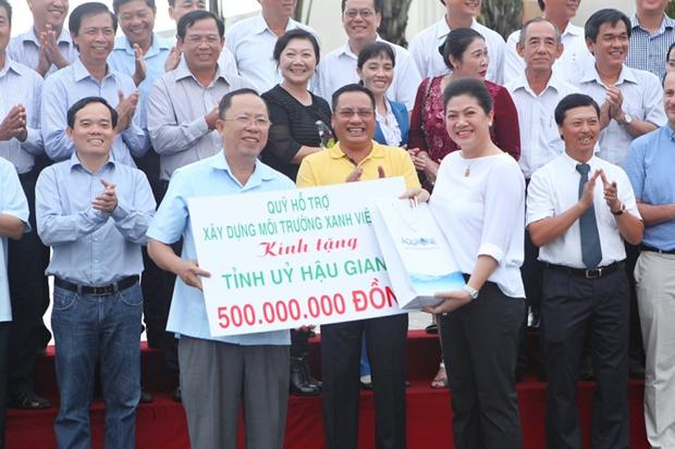 Mise en chantier de l'usine de traitement des dechets Greenity Hau Giang hinh anh 1