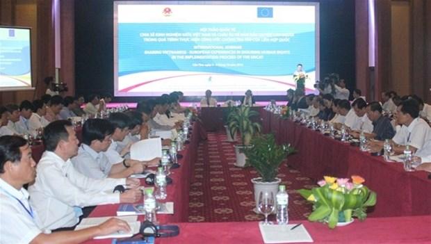 Vietnam-UE: partage d'experiences sur la garantie des droits de l'homme hinh anh 1